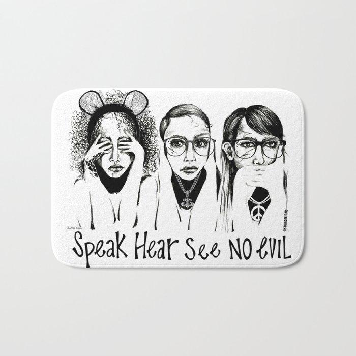 Speak, Hear, See No Evil STUK GIRLS Bath Mat