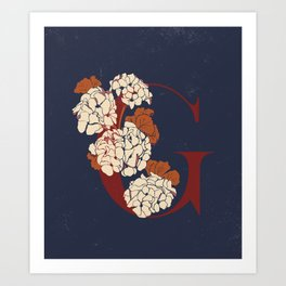 Letter G for Geranium Art Print