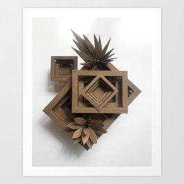 Cardboard Sculpture Art Print