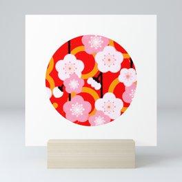Japanese Circle 2 Cherry Tree Sakura Mini Art Print