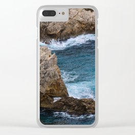 Rocks in the Sea Clear iPhone Case
