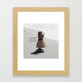 Wolfen Hula Babe Framed Art Print