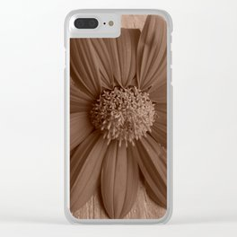 Rustic Mexican Sunflower in windowsill Clear iPhone Case
