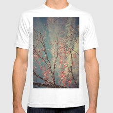 Red Tree Mens Fitted Tee White MEDIUM