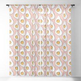 Pink fried eggs pop art breakfast pattern Sheer Curtain