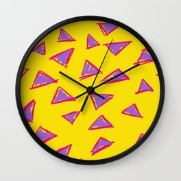 Sketchy Triangles Wall Clock