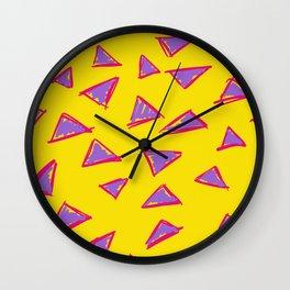 Sketchy Triangles Wall Clock