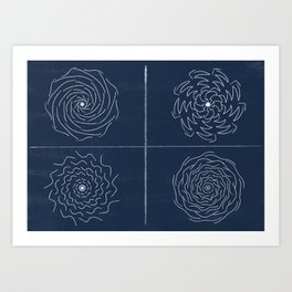 А picture of abstract shapes Art Print