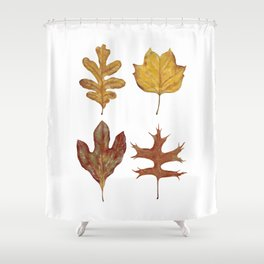 Fall Leaves Painting Shower Curtain