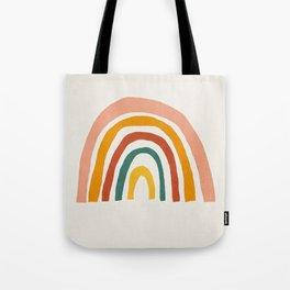 Rainbow, Mid century modern kids wall art, Nursery room Tote Bag