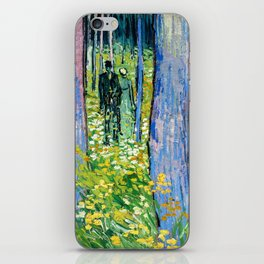Vincent Van Gogh - Undergrowth with Two Figures iPhone Skin