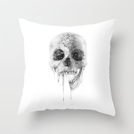 Crystal Skull Throw Pillow