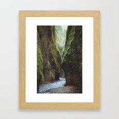Oneonta Gorge Framed Art Print