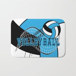 Volleyball Sport Game - Net - Baby Blue Bath Mat