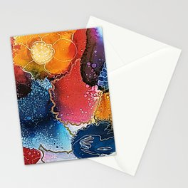 Tropical Flowers - Abstract Art Stationery Cards