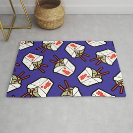Take-Out Noodles Box Pattern Rug
