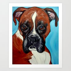 Oscar the Boxer Art Print