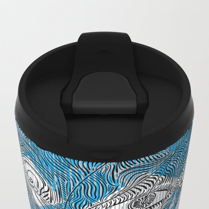 mesmerized by the light blue diamond Metal Travel Mug