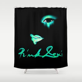 Pink Lexi Electric Teal Shower Curtain