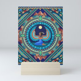Egyptian Goddess Isis mandala by Soozie Wray Mini Art Print