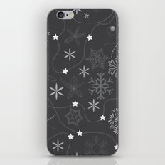 Stars on a string with snowflake and fireworks iPhone & iPod Skin