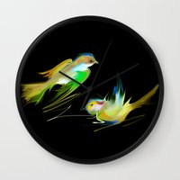 weed Wall Clocks featuring weed by tatiana-teni