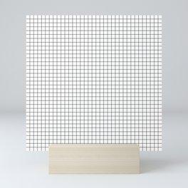 White Grid Black Line Mini Art Print