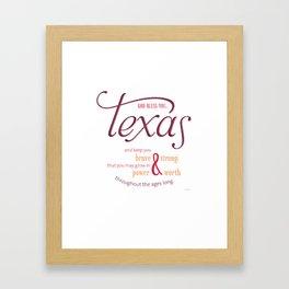 Texas Poster Framed Art Print