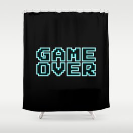 GAME OVER (blue) Shower Curtain