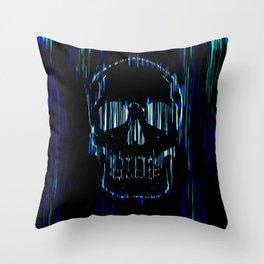 Neon Skull Throw Pillow