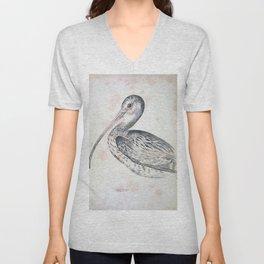 069 Australian Curlew numenius australis Unisex V-Neck