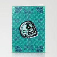 sarcasm Stationery Cards featuring Sarcasm skull on pillow by NENE W