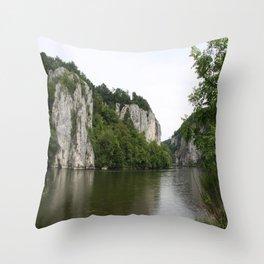 Danebu River Throw Pillow