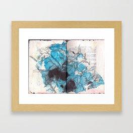 Deconstructed Flower (blue) Framed Art Print