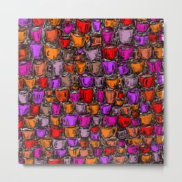 Coffee Mugs 2 Metal Print