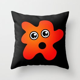 Surprised Stain Throw Pillow