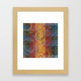 Vintage Spirals Framed Art Print