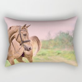 horse collection. sportive Rectangular Pillow