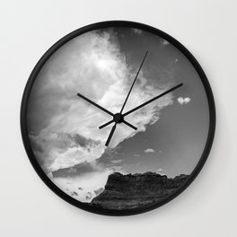 Incoming Storm Black and White Wall Clock
