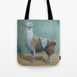 Dali Llama Funny Mustache Melted Clock Salvador Dadaism Tote Bag