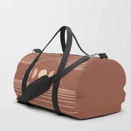 Geometric Lines // Moon Phases 3 (Terracotta Themed) Duffle Bag