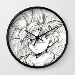 The Boy w/ All the Power Wall Clock