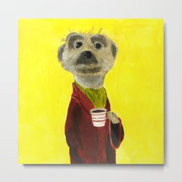 Noble Meerkat from Animal Society Metal Print