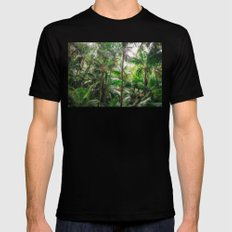 Tropical Forest Mens Fitted Tee Black MEDIUM