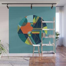 A Fraudulent Response on Blue Wall Mural