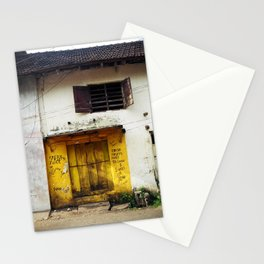 Fort Cochin Door, Fort Cochin, Kerala, India Stationery Cards