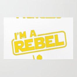 I'm Not a Princess, I'm a Rebel T-Shirt Rug