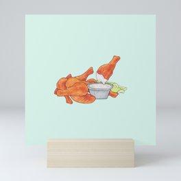Wings and Ranch! Mini Art Print