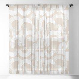 Tor in Tan Sheer Curtain