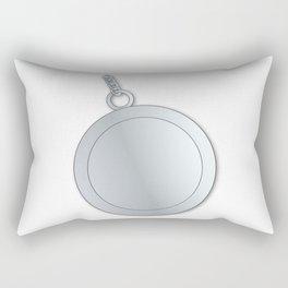 Blank Lucky Silver Charm Rectangular Pillow